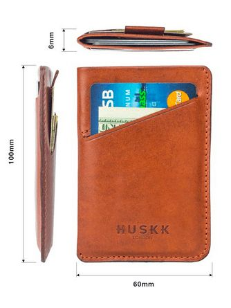 HUSKK slim wallet made of Italian leather