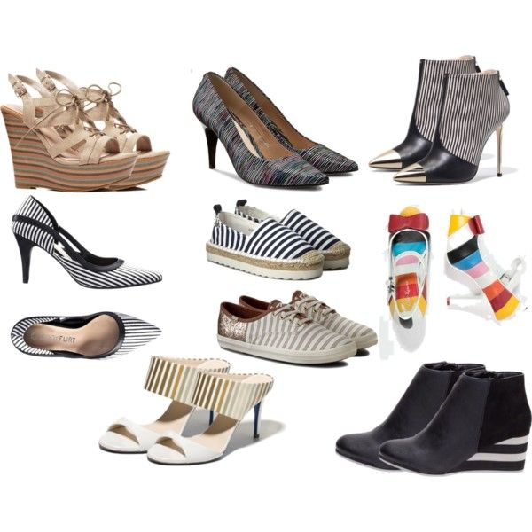 love stripes shoes by colour-code on Polyvore featuring moda, Lola Ramona, Big Star and Loriblu