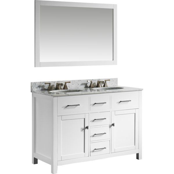 Sverre 48 Double Bathroom Vanity Set With Mirror Vanity Set