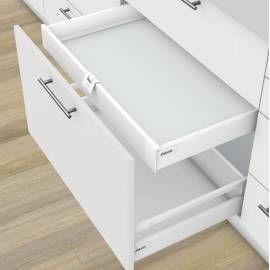 Kit tiroir à l'anglaise métallique BLUM (série M hauteur 98.5 mm)