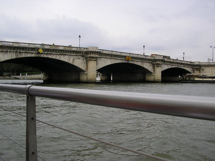 The Pont de la Concorde is an arch bridge across the River Seine in Paris connecting the Quai des Tuileries at the Place de la Concorde (on the Right Bank) and the Quai d'Orsay (on the Left Bank). It has formerly been known as the Pont Louis XVI, Pont de la Révolution, Pont de la Concorde, Pont Louis XVI again during the Bourbon Restoration (1814), and again in 1830, Pont de la Concorde, the name it has retained to this day.