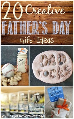 20 Fun and Creative Ideas for Fathers Day gifts. Find lots of inspiration with simple DIY gifts that Dad is sure to love!