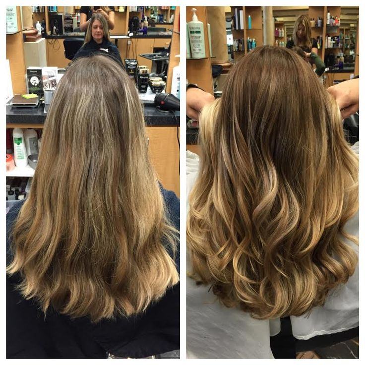 ashley gray joelles salon before after client balayage