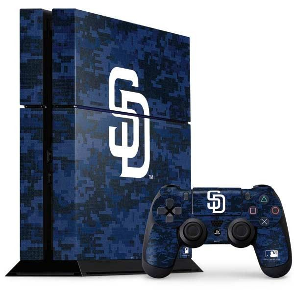 San Diego Padres Digi Camo PlayStation Gaming Skin. Shop now at www.skinit.com  #MLB #SanDiego #Padres #PS4 #playstation #Sony #PS4Skin #gaming #gamingskin