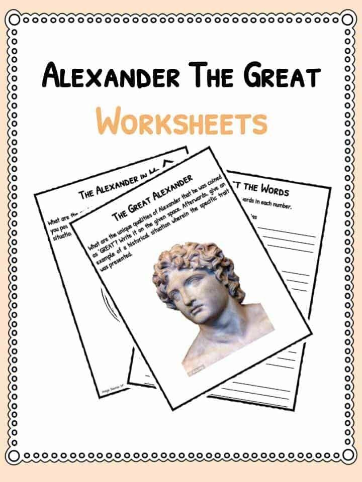 Alexander The Great Primary Source Worksheet Greece Alexander