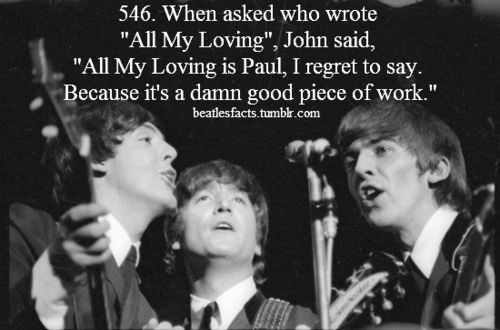 A very important Beatle's song.  First song played on the first Ed Sullivan performance-fab!