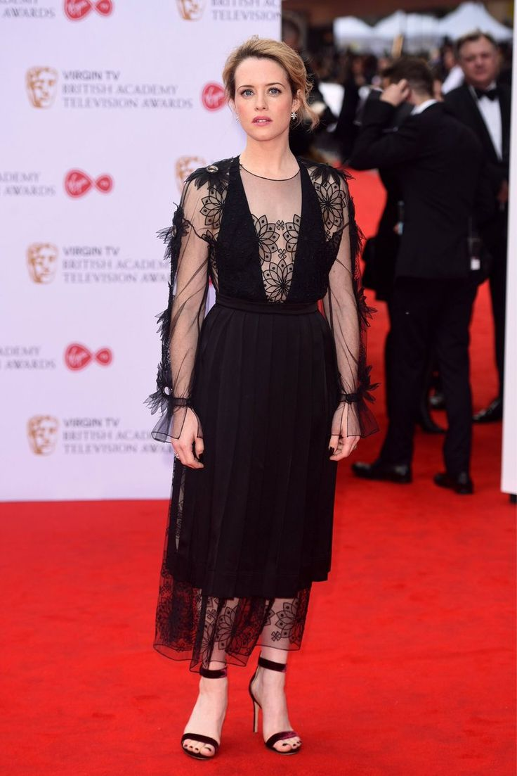 Claire Foy, star of The Crown looking dashing in  #FendiSW17 at the BAFTAs