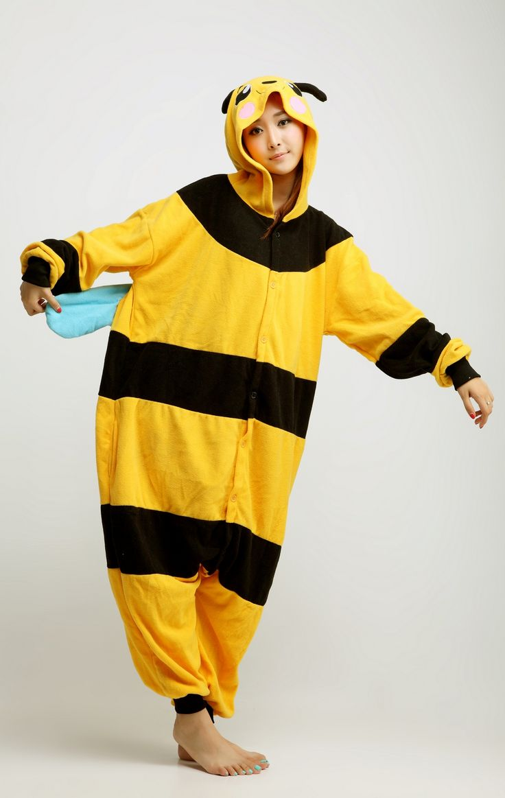 #Bee Animal Adult #Kigurumi #Onesie
