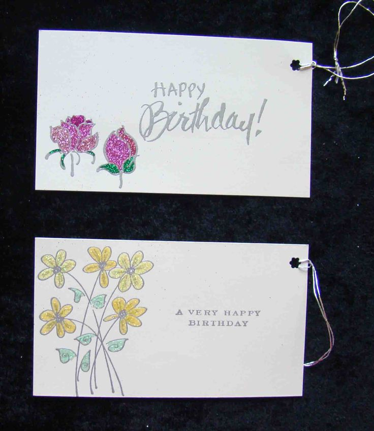 Gift tags with rubber stamping