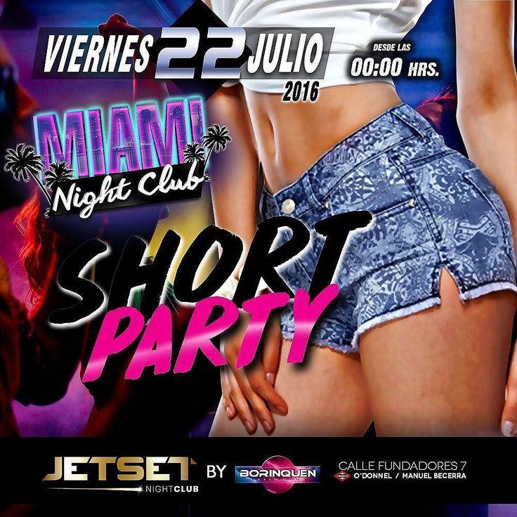 """Tienes una nueva alternativa de Ocio Nocturno en Madrid este Viernes en la discoteca @borinquenmadrid  tenemos otro  día más de Miami Nigth Club  en esta ocasión  Short Party... Para que tod@s vayamos en pantalones cortos """"shorts"""" que el calor en Madrid está Candela ..... Las chicas tienen entrada gratis con invitación de una copa hasta las 02:00 y los chicos pueden entrar gratis hasta las 02:00. Dj Osmer Marsiglia nos pondrá lo mas nuevo que se oye ahora mismo del otro lado del charco…"""