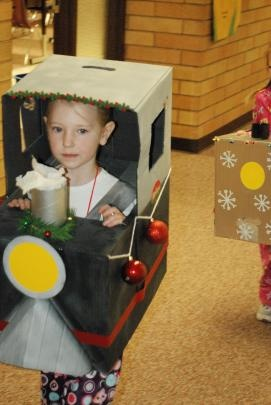 polar express party - have the kiddos bring a homemade train engine and have a parade!