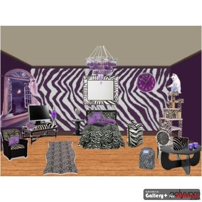 Zebra with purple home decor ideas home design and for Zebra decorations for home