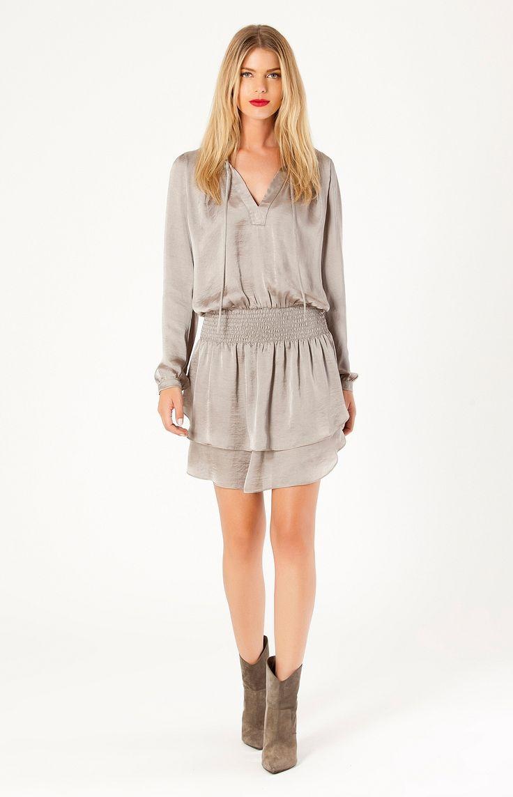 | Joelle Satin Dress | Womens Dresses | Hale Bob Dresses - Hale Bob