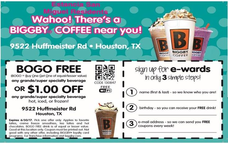 photo regarding Coffee Coupons Printable titled Biggby espresso discount coupons printable - arrive again
