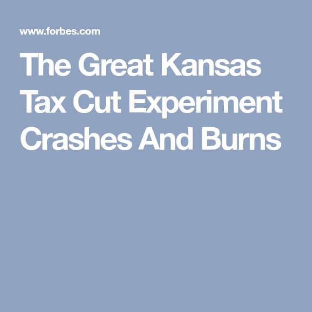 The Great Kansas Tax Cut Experiment Crashes And Burns --#GOPTaxScam will end the same way.