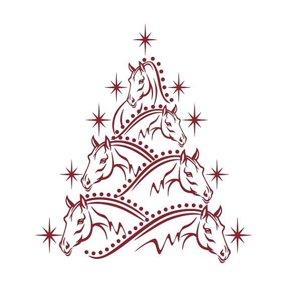 164 best images images on pinterest horses coloring for Christmas tree made out of horseshoes
