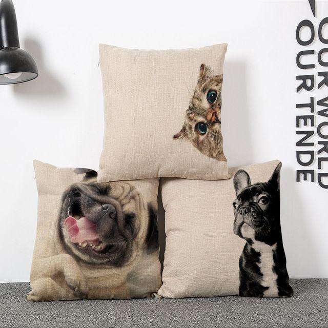 seggiolino auto cuscino senza anima bulldog francese divano per sedie cotone decorativo cuscini pillow home decor textile