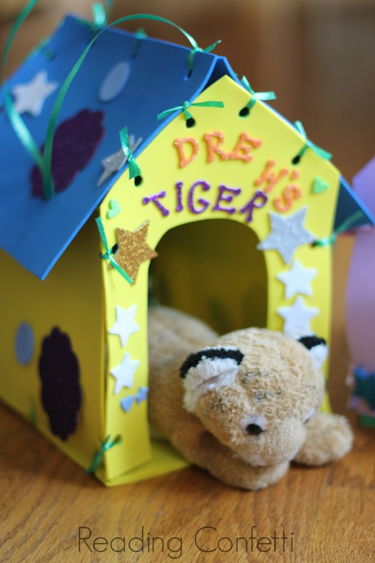 Make Your Own Stuffed Animal House and Carrier ~ Reading Confetti