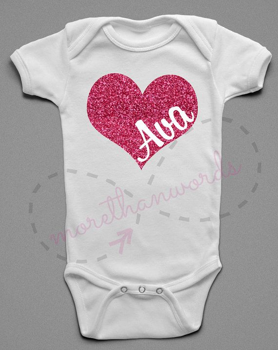 Valentines Day Shirt Valentines Onesie Name By Morethanwordsny The