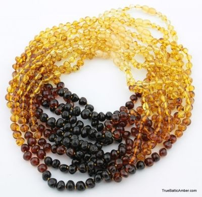 rainbow baltic amber necklace
