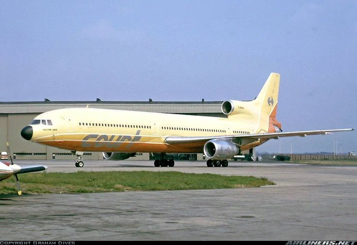 In 1973, Court Line took delivery of a pair of Lockheed L-1011 Tristars and became the first European airline to operate the Lockheed widebody.The aircraft were acquired on long-term lease from Airlease International, a consortium of eleven British banks and financial institutions. They were uniquely customised for Court with double-width doors to speed up passenger evacuation and featured integral passenger stairs and baggage conveyors to facilitate operations.
