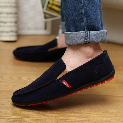 2016 zapatos hombre Shoes Autumn Man Canvas Shoes Fashion Mens Casual Shoes Comfortable Sapatos Masculinos Slip-on Red Bottom