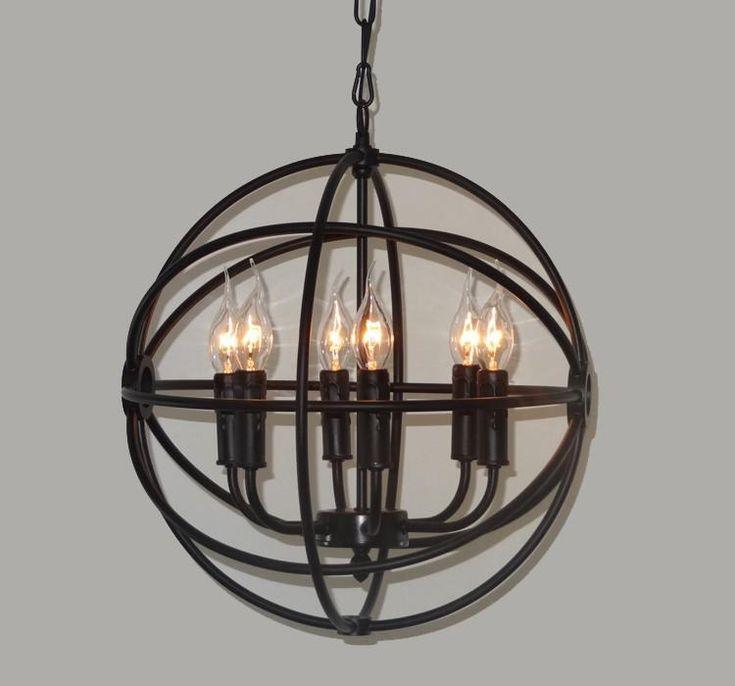 Varnished orb chandelier table lamp