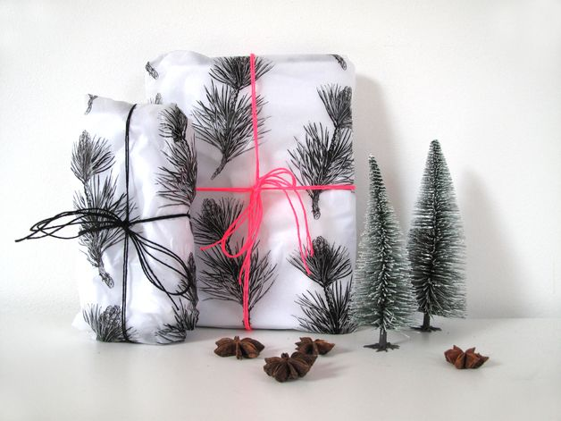"Gift Wrap – Silk Wrapping Paper ""Twig"", 50x75 cm – a unique product by avaundyves on DaWanda"