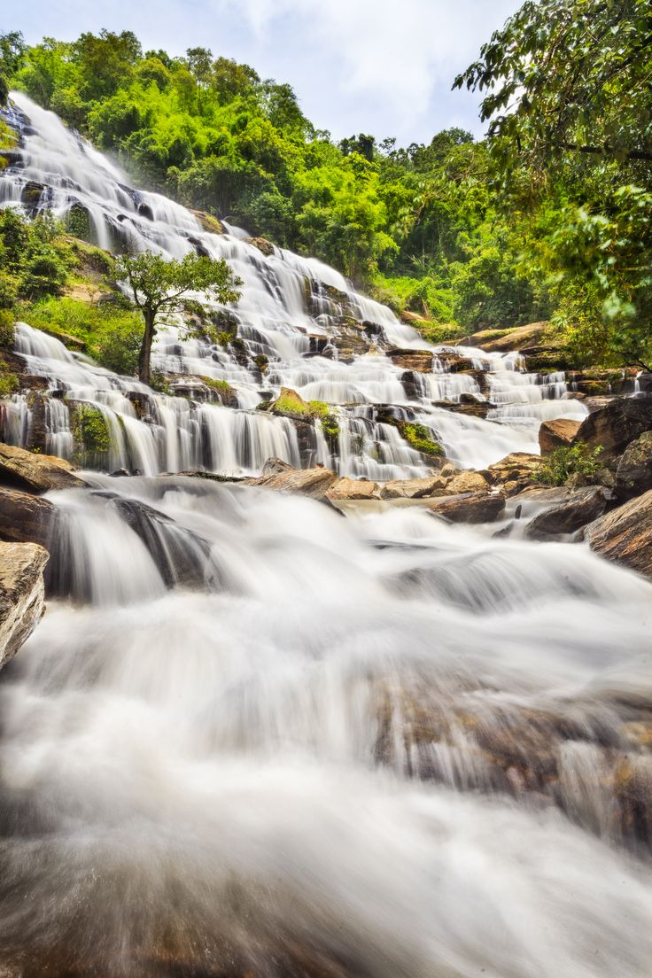 Mae Ya Waterfall in Doi Inthanon National Park, Chiang Mai, Thailand.