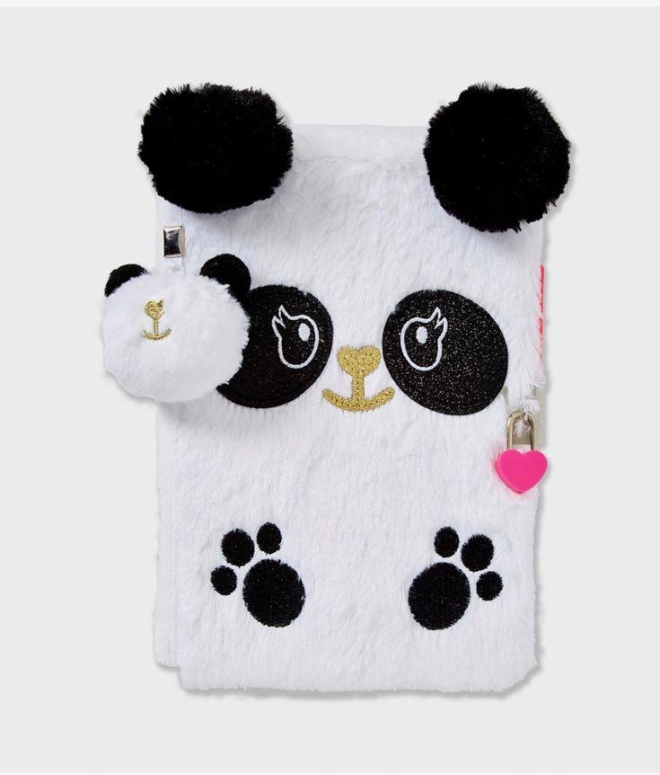 Panda fur journal (at Justice store)