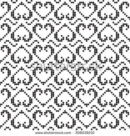 Pixel pattern. Seamless background texture. The pattern can be used to the scheme for embroidery, knitting, sewing and other creative work. - stock vector