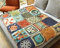 A great way to explore new stitches and learn how to crochet squares together for a blanket, the Chain Reaction Afghan!