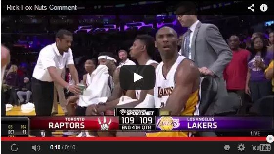 Kyle Lowry Put His Nuts On The Back Of Kobe's Head
