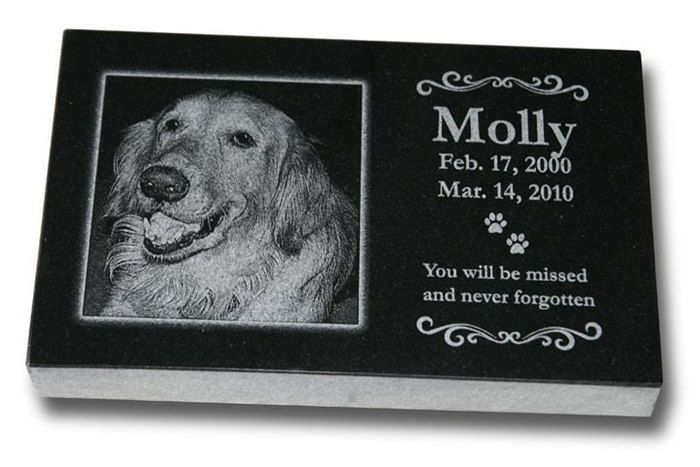 """Standard Pet Grave Marker Headstone (Medium 10"""" x 6"""" x 1"""") for Dogs & Cats by PetMemorialProducts on Etsy https://www.etsy.com/listing/172092294/standard-pet-grave-marker-headstone"""