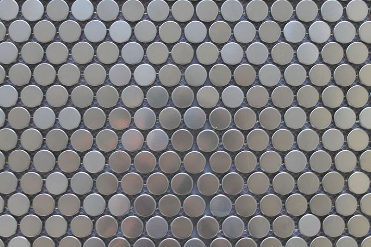 Stainless Steel Penny Round Mosaic Tiles for Kitchen Backsplash/Accent Walls #RockyPointTile