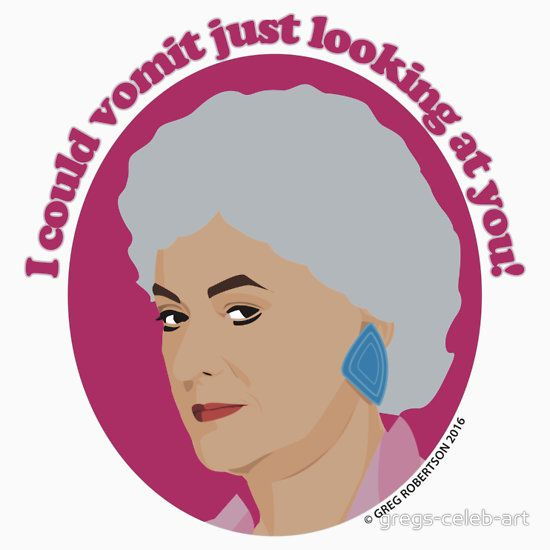 Bea Arthur as Dorothy Zbornak from The Golden Girls