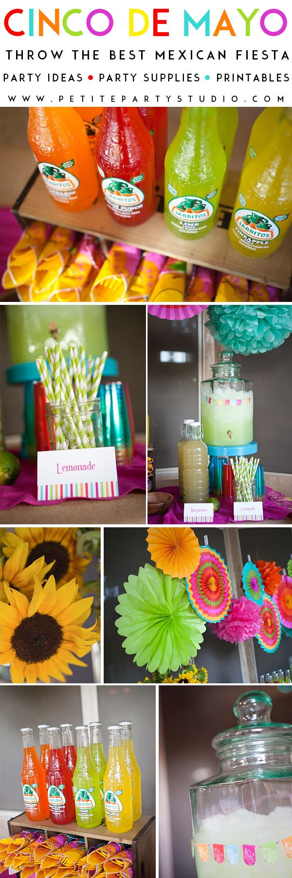 Cinco de Mayo Party Ideas by Petite Party Studio | Ideas para una fiesta inspirada en el Cinco de Mayo