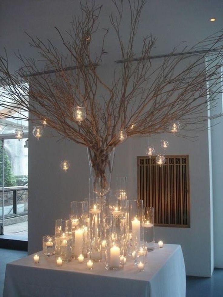 43 magnifiques idées de décoration de mariage d'hiver