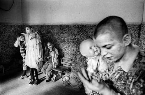 Patients in a mental hospital