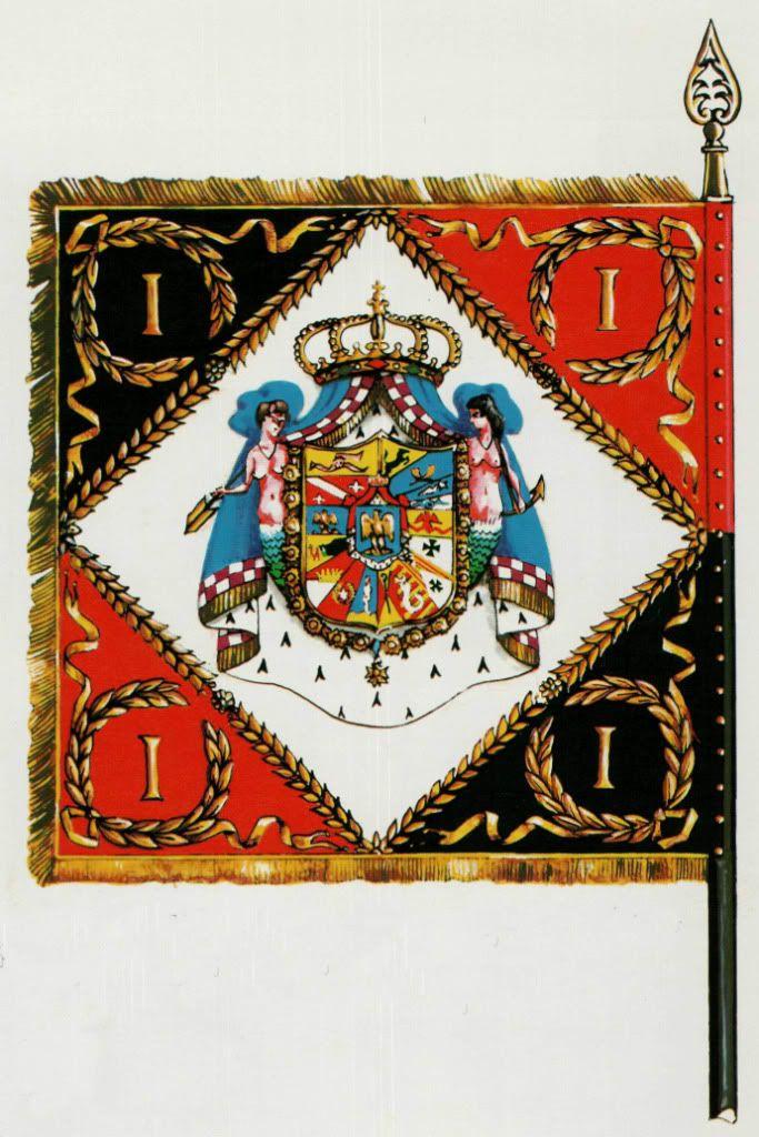 Знамена и штандарты Неаполитанской армии 1806-1815. Армейская пехота.