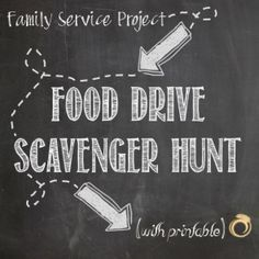 Food Shelf Friday Food Drive Scavenger Hunt - Family service project to get kids involved in helping as they learn about hunger and nutrition - with free printable - #FSF