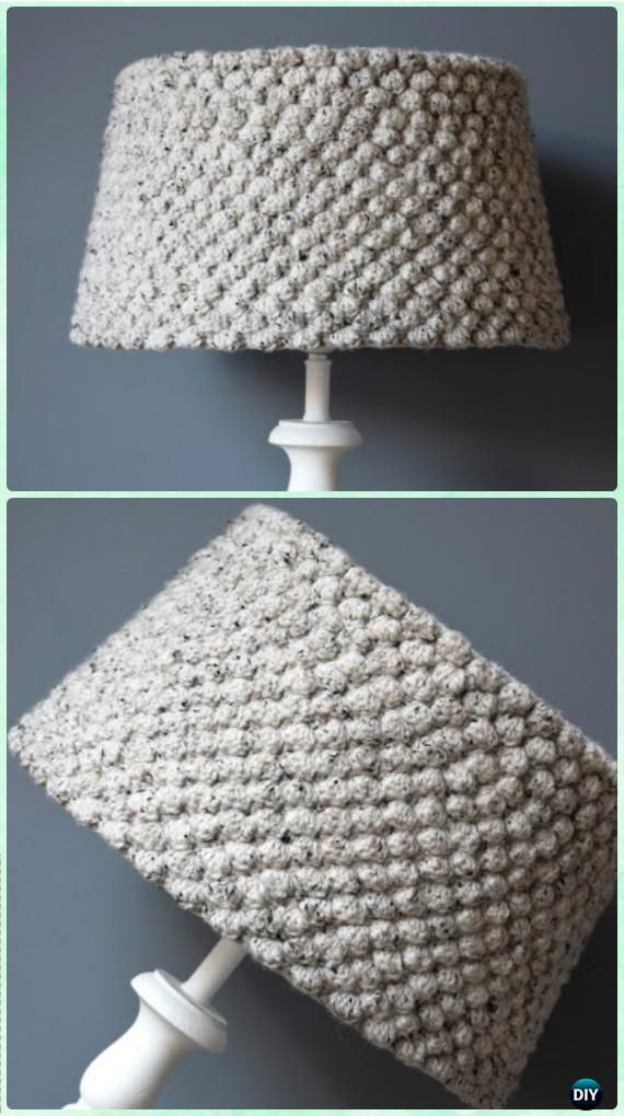 Crochet Honeycomb Stitch Lampshade Free Pattern - Crochet Lamp Shade Free Patterns