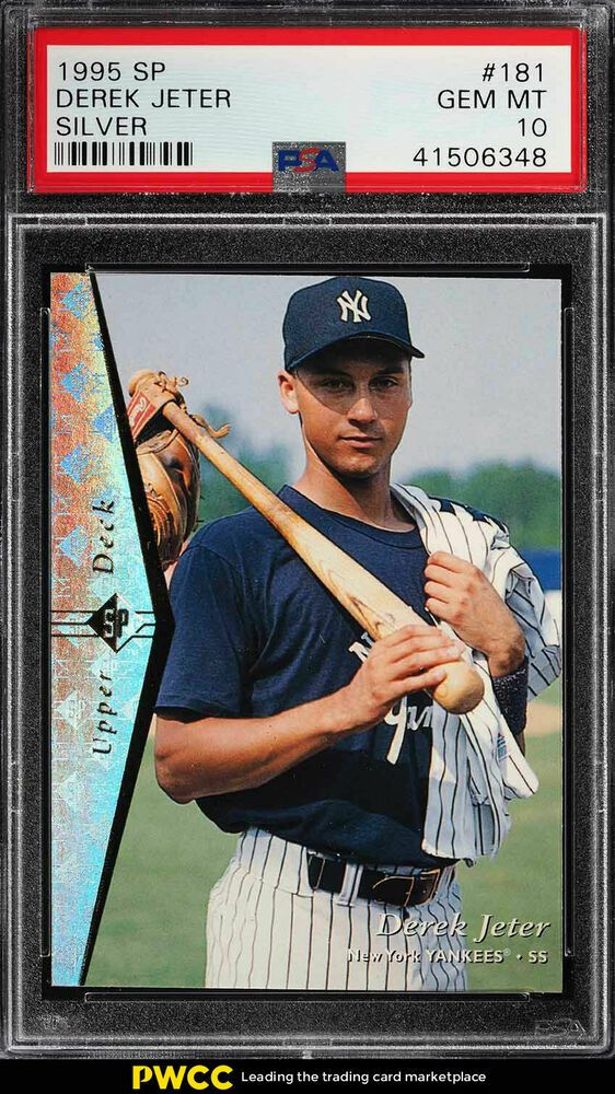 1995 Sp Silver Derek Jeter Rookie Rc 181 Psa 10 Gem Mint