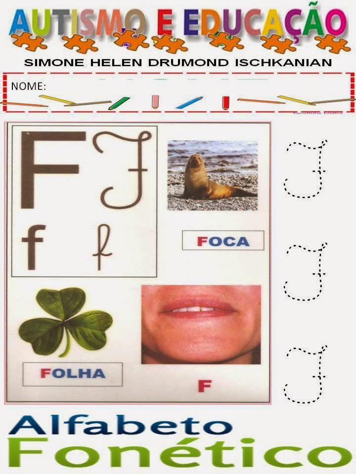 Simone Helen Drumond : 3 ALFABETO FONÉTICO (AUTISMO E EDUCAÇÃO)