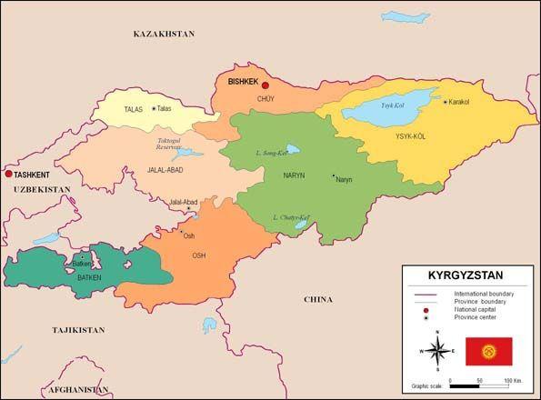 La piràmide de població és relativament jove. La gent es concentra en petits nuclis rurals, i encara sobreviuen bastants grups seminòmades. Les principals minories ètniques són els russos i els uzbecs. El país compta amb una població d'una mica més de 4,8 milions d'habitants distribuïts en 198.500 km².