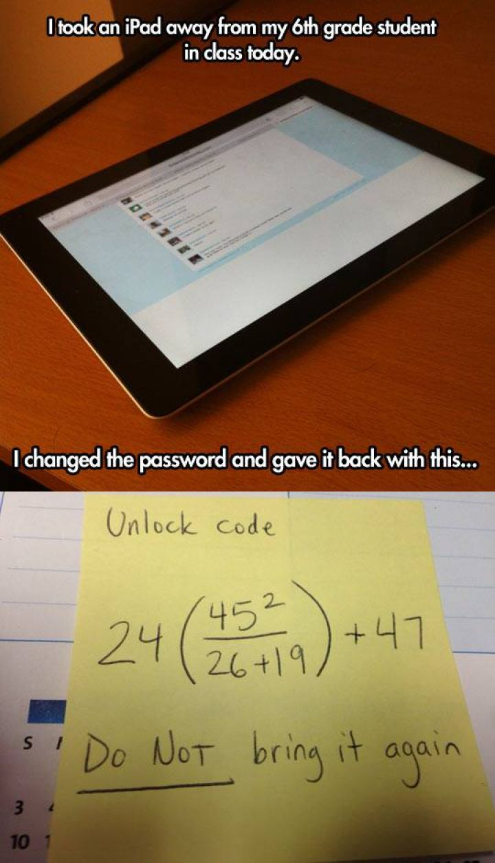 This teacher deserves an award�