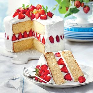 Sensational Fresh Strawberry Desserts | Strawberry Dream Cake | MyRecipes.com