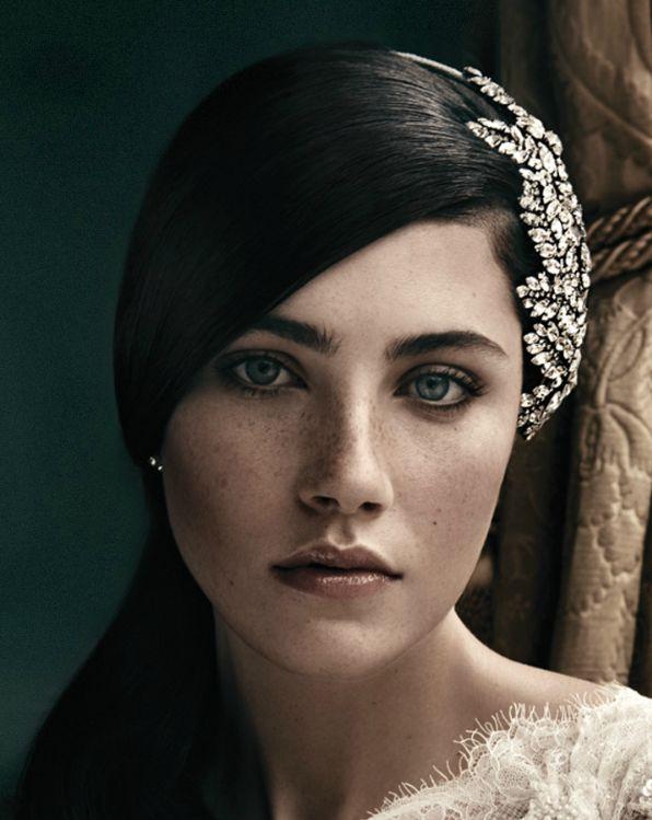 I love this headpiece.  Winter Wedding - Jenny Packham