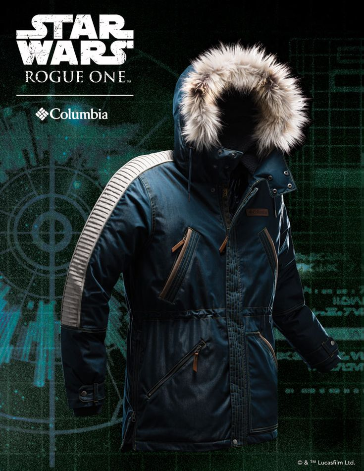 Star Wars Rouge One Men's Captain Cassian Andor Rebel Parka by Columbia Sportswear