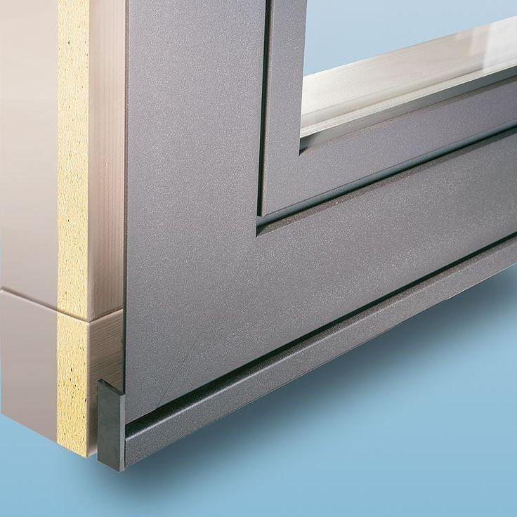 Holz-Alu Fenster ECO Plano mit Steinbankanschluss
